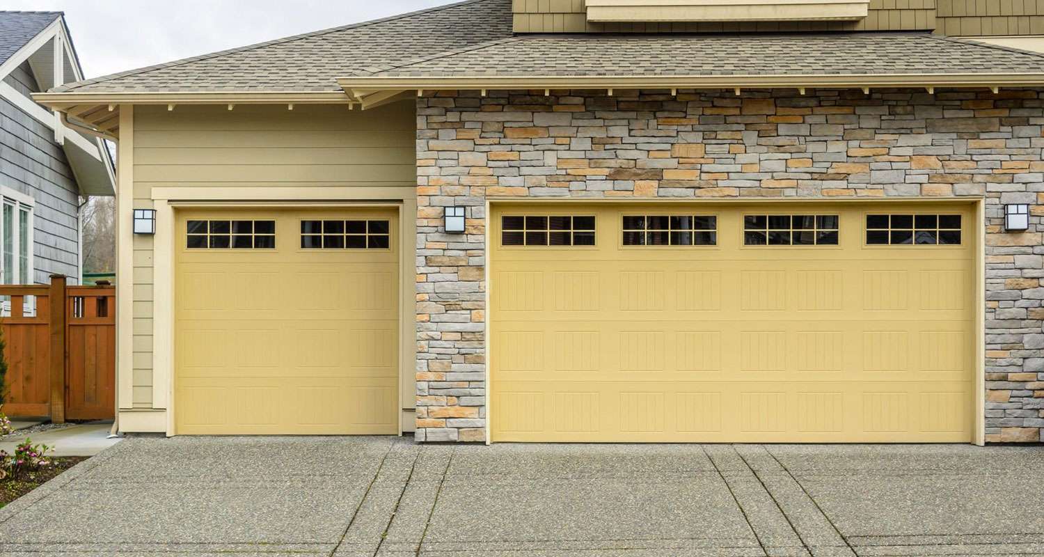 Yellow Garage Door